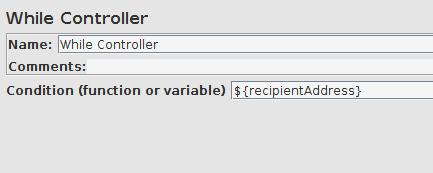 JMeter While loop config